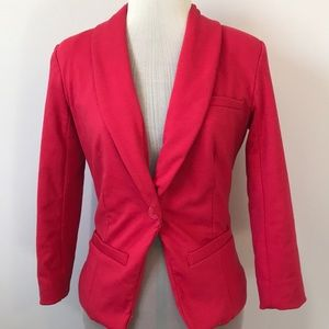 Hot pink jacket career casual soft button front XS
